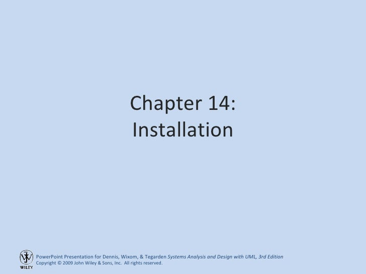 Chapter 14: Installation
