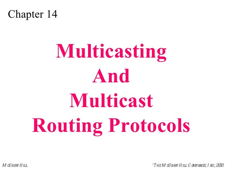 Chapter 14 Multicasting And Multicast Routing Protocols
