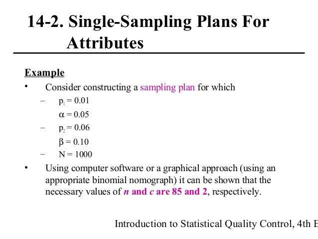 single sampling plan example