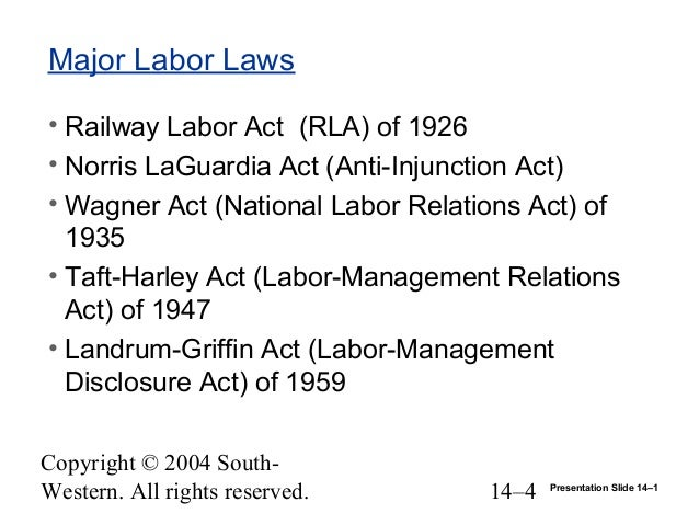 landrum griffin act Explain the landrum-griffin act and landrum-grinnin act for the union to adopt a rule that required all candidates for the union office to be proficient in.