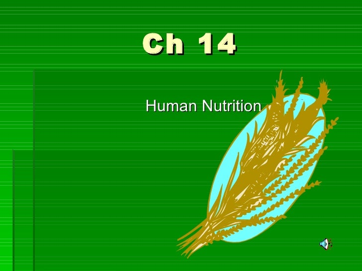 Ch 14 Human Nutrition