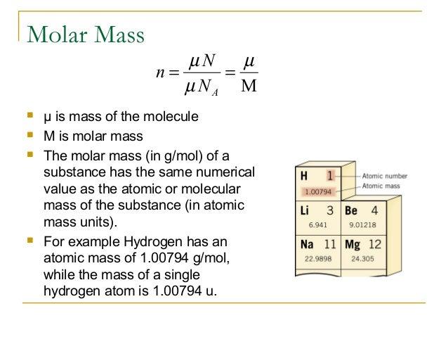 N Molecular Weight Ch 14 Ideal Gas Law &a...