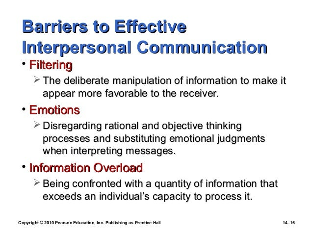 barriers to effective communication paper Effective communication involves overcoming these barriers and conveying a clear and concise message some common barriers to effective communication may include:.