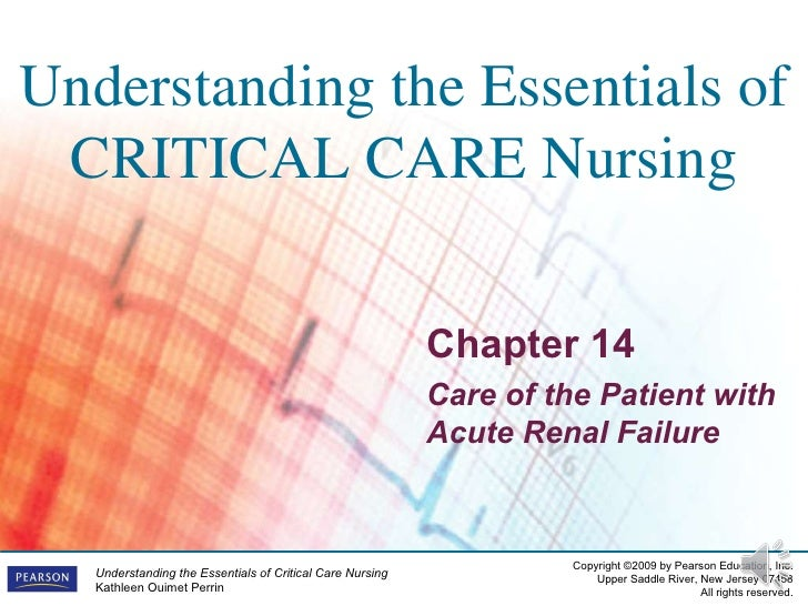 Chapter 14 Care of the Patient with Acute Renal Failure