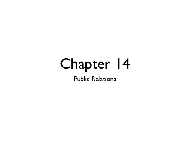 Chapter 14 Public Relations