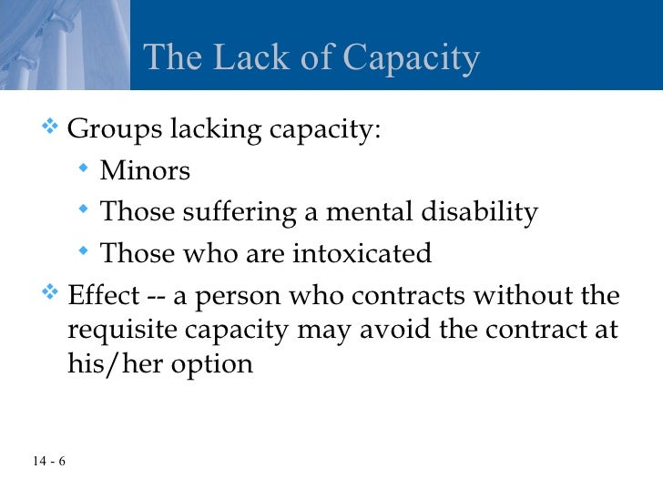 contrtactual capacity of minors