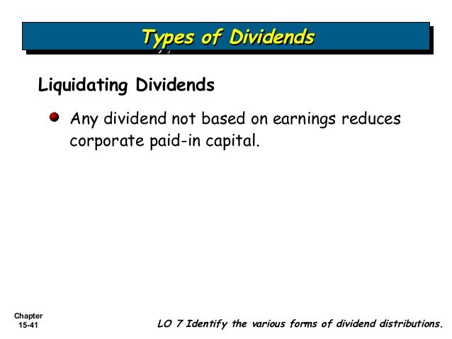 Liquidating dividend accounting entry