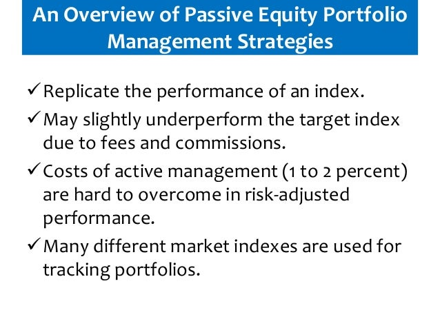 equity portfolio management strategies pdf