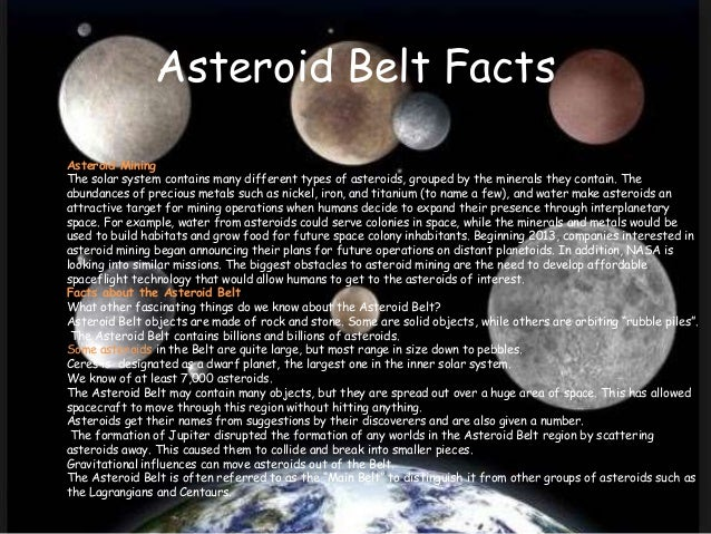 info on the asteroid belt - photo #22