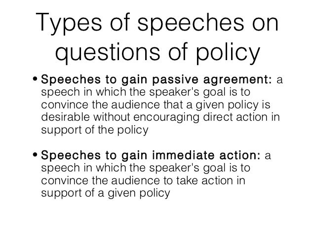 persuasive speeches deal with How to use 10 psychological theories to persuade people found a number of factors in persuasive speech let the other person do a great deal of the talking.