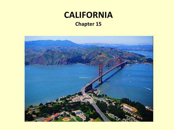 CALIFORNIA Chapter 15