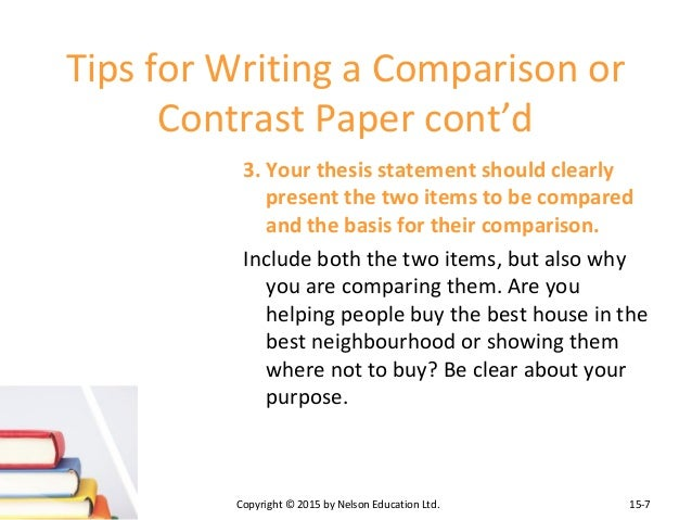 two methods writing compare contrast essay