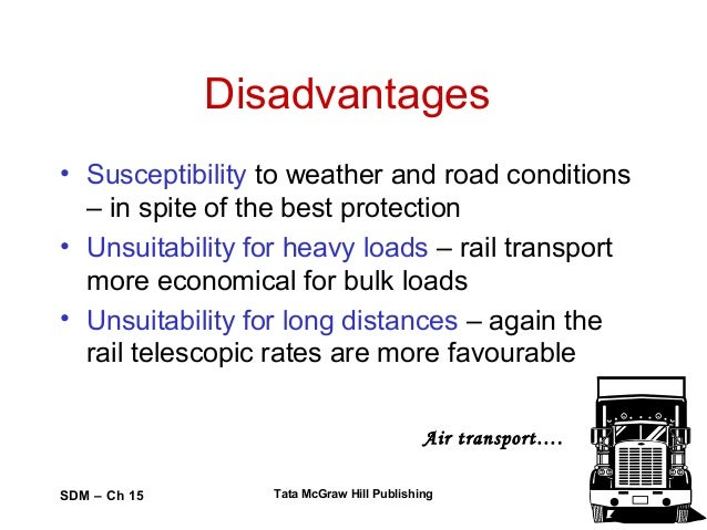 the advantages and disadvantages of the under pricing of road transport It is the fastest means of transport when one compares it with road transport,  advantages and disadvantages of air transport  transport costly the price.