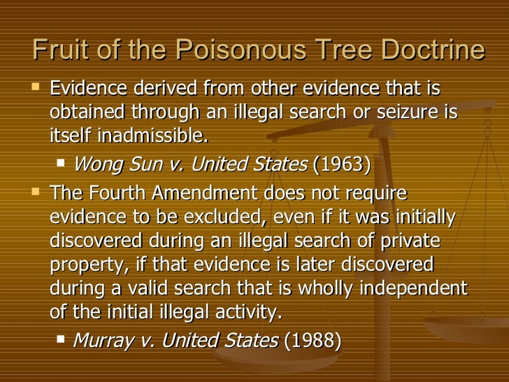fruit of the poisonous tree law