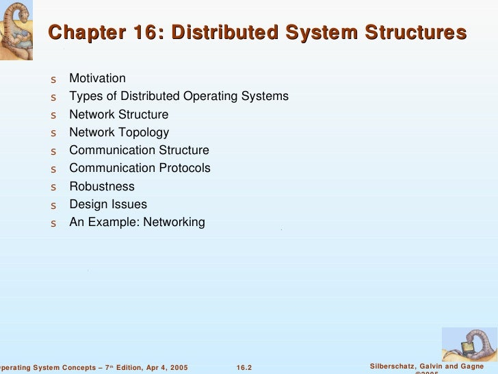 Chapter 16 Distributed System Structures