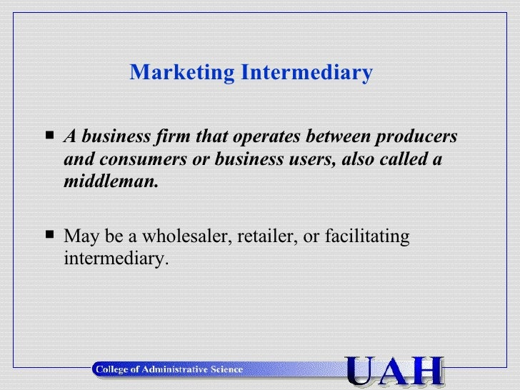 Use 'intermediary' in a Sentence