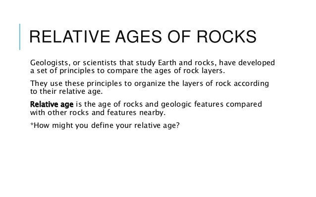 five principles of relative age dating Unit 5: age of the earth objective: e53d describe how  e53g identify a  sequence of geologic events using relative-age dating principles relative dating.