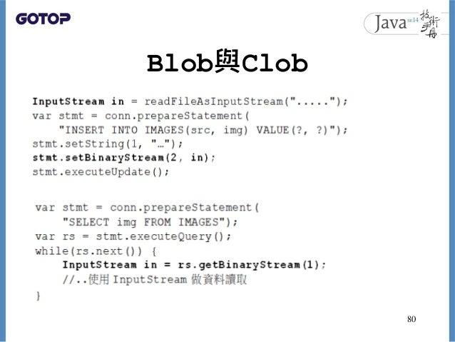 Blob與Clob 80