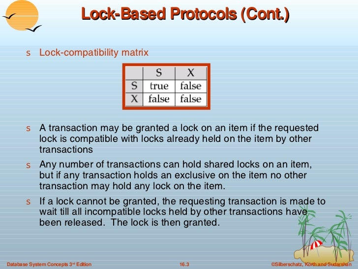 16. Concurrency Control in DBMS Slide 3