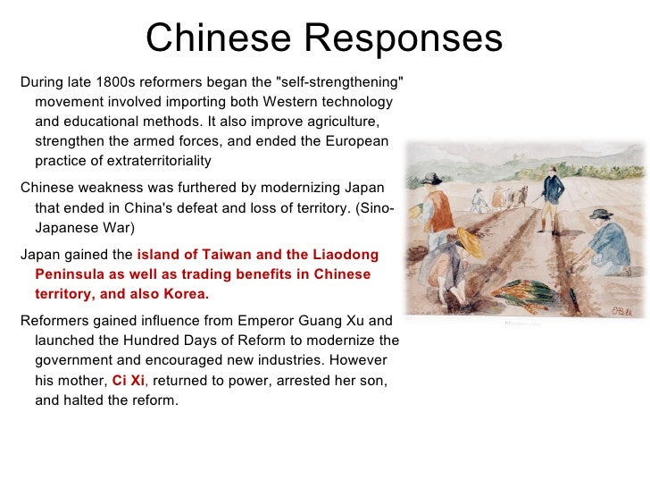 china responded to imperialism
