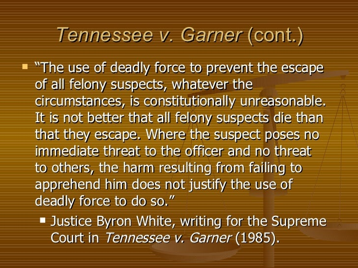 Tennessee v. Garner, 471 U.S. 1 (1985)