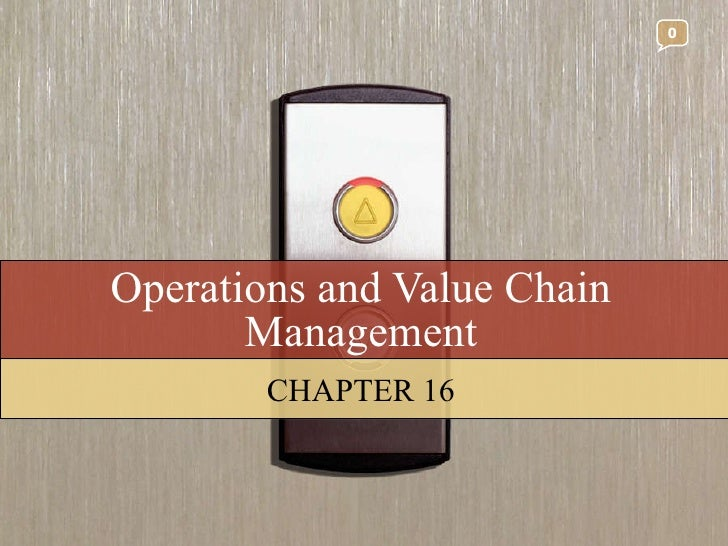 value of operations management Way in which operations managers can quantify the importance of their   develop an understanding of the strategic importance of operations and how.