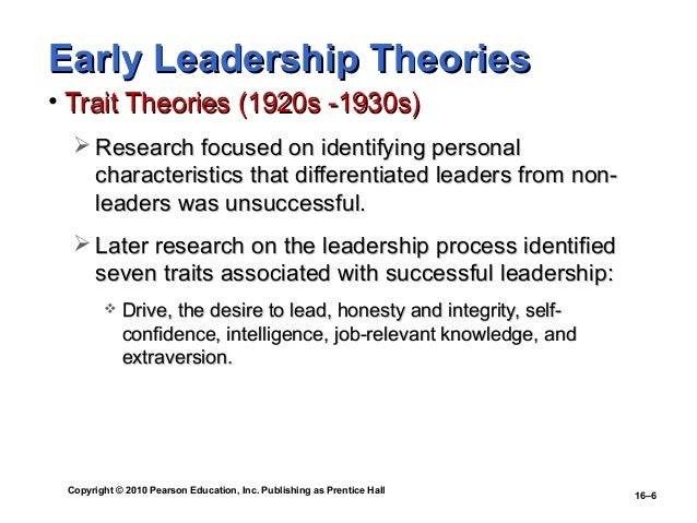 research theories of management and leadership
