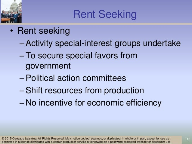 rent seeking examples