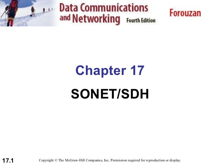 Chapter 17 SONET/SDH Copyright © The McGraw-Hill Companies, Inc. Permission required for reproduction or display.