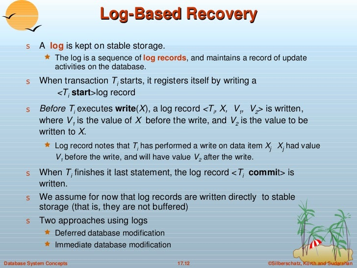 recovery system dbms Relational dbms internals antonio  97 recovery from system and  this chapter is an introduction to the structure of a typical centralized dbms (data base.