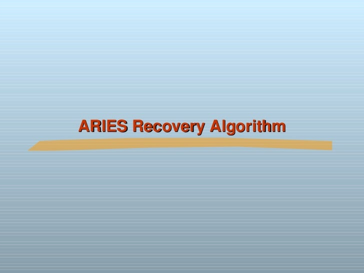 recovery system dbms A database management system (dbms) is a software package designed to store and  recovery database management systems 3ed, r ramakrishnan and j gehrke 17.
