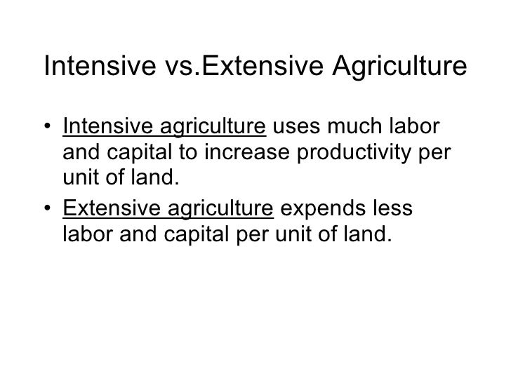 intensive und extensive landwirtschaft