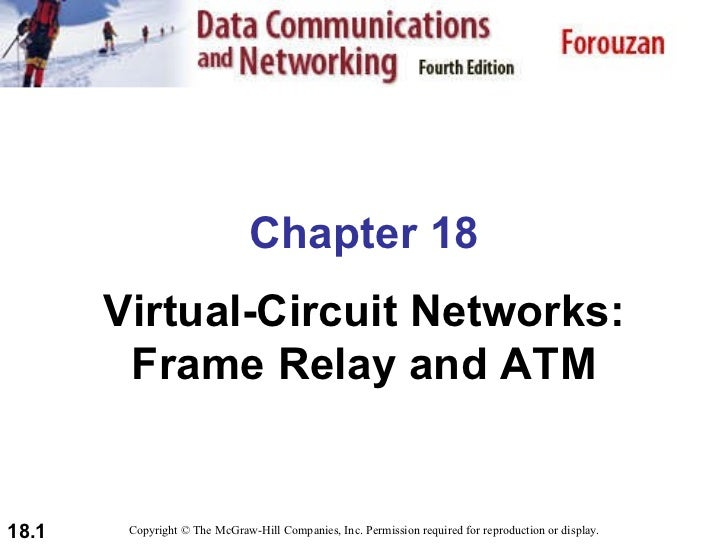 Chapter 18 Virtual-Circuit Networks: Frame Relay and ATM Copyright © The McGraw-Hill Companies, Inc. Permission required f...