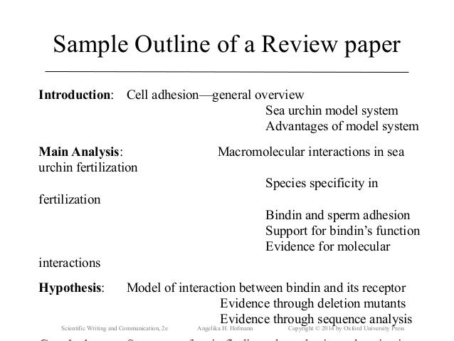 scientific literature review paper format This page features a discussion of each of the following components of writing a scientific review article: choosing a topic and finding articles what questions to answer in your review which sections to include and tips for writing them other tips and tricks are featured underneath this box.
