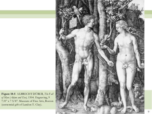 Adam and Eve Albrecht Dürer Durer engraving ca.1504