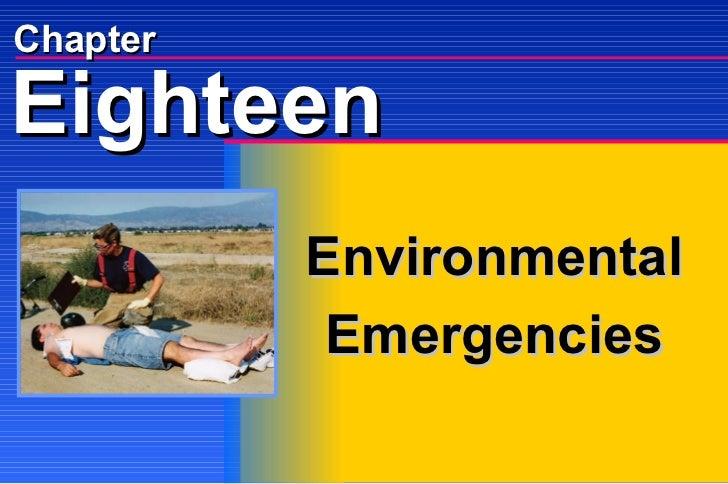 Chapter Environmental Emergencies Eighteen