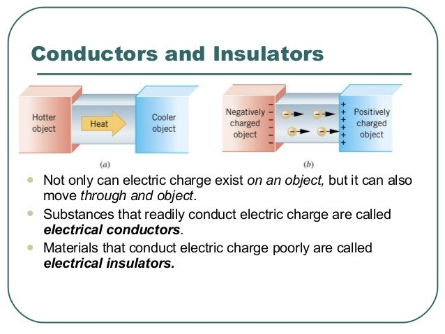  Not only can electric charge exist on an object, but it can also move through and object.  Substances that readily cond...