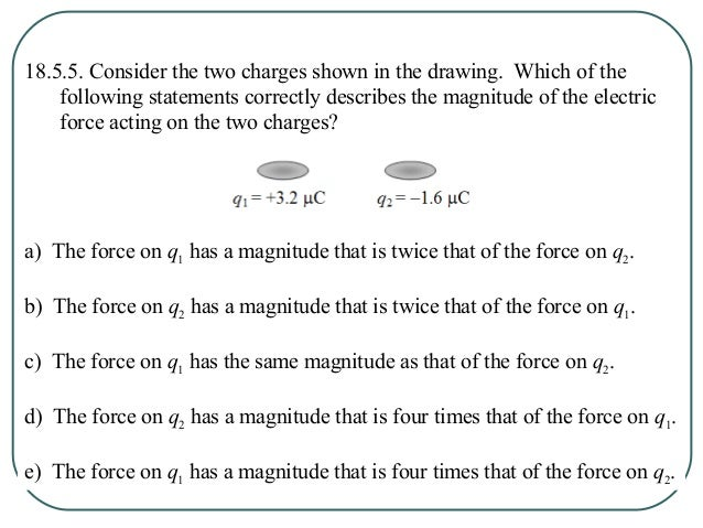 18.5.6. Two point charges are stationary and separated by a distance R. Which one of the following pairs of charges would ...