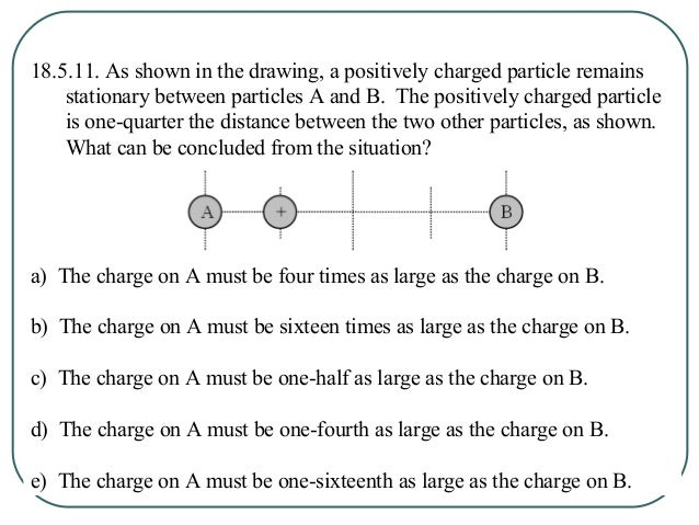 18.5.12. Two particles are separated by a distance d. Particle A has a charge +Q and particle B has a charge +3Q. At what ...