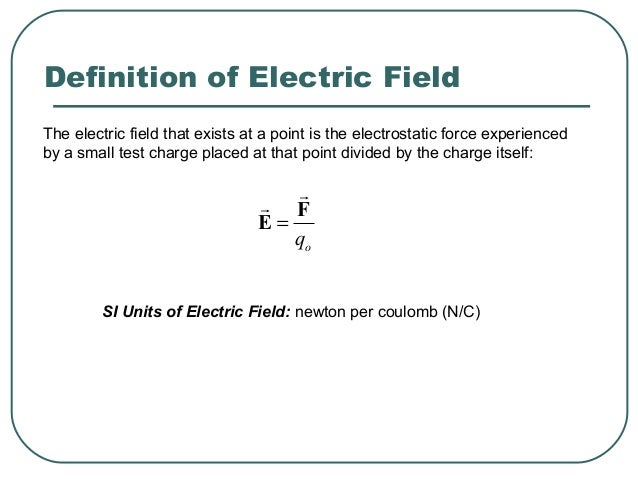It is the surrounding charges that create the electric field at a given point.
