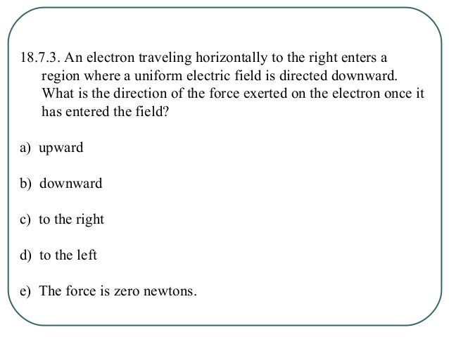 18.7.4. Consider the electric field lines shown in the drawing. Which of the following statements correctly describes this...