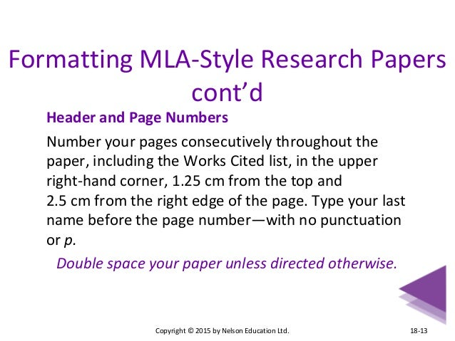 where do page numbers go on a research paper If using mla style and the quote is four lines or less you would use quotation marks and the period would go after the page numbers  for example those were evil times (19-20.