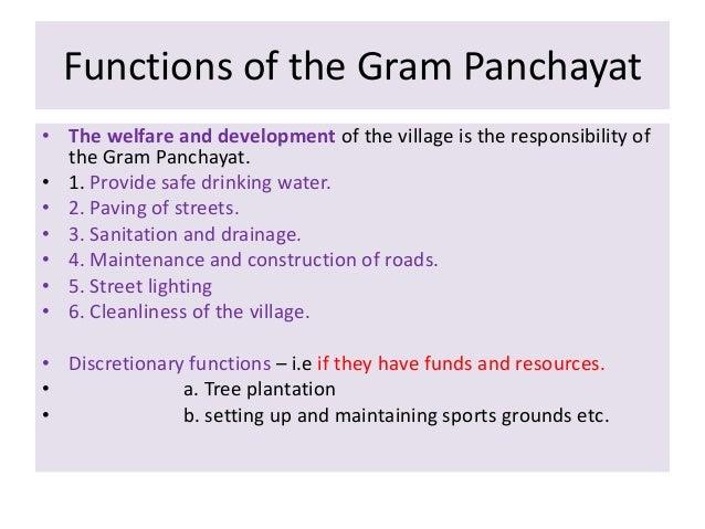 Importance of Gram Panchayat