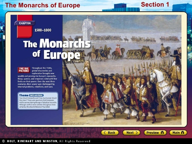 The Monarchs of Europe   Section 1