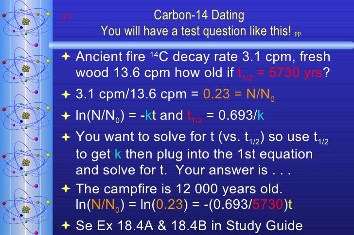Carbon 14 dating steps 1
