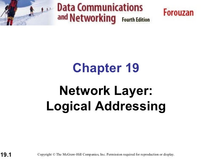 Chapter 19 Network Layer: Logical Addressing Copyright © The McGraw-Hill Companies, Inc. Permission required for reproduct...
