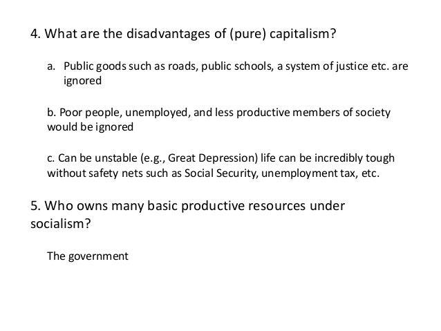 disadvantages of capitalist society