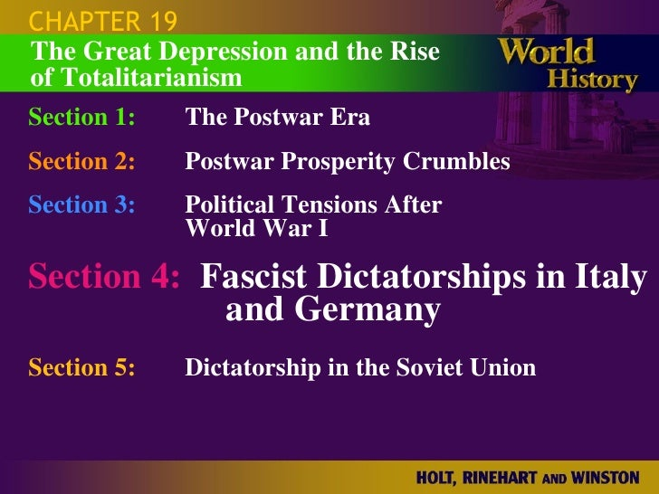 CHAPTER 19 Section 1: The Postwar Era Section 2: Postwar Prosperity Crumbles Section 3: Political Tensions After  World Wa...
