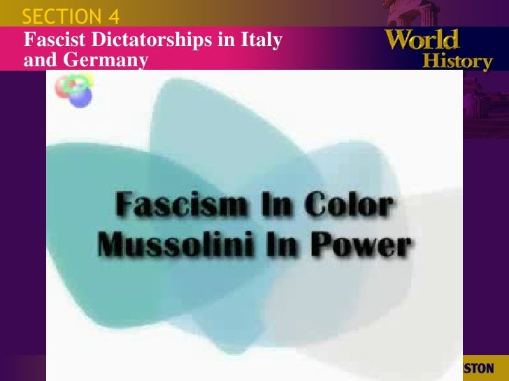 an essay on fascism in germany and italy Fascism in italy and germany, though in many regards very similar  this essay will explain what fascism is (definition), how fascism groups are run, .