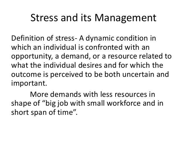 change & stress management (Chapter No.19